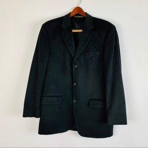 Ing Loro Piana & C Blazer 46 Black 100% Cashmere